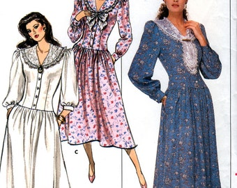 Butterick 5713 by J. G. Hook Vintage 80s Misses' / Misses' Petite Dress Sewing Pattern - Uncut - Size 6, 8, 10