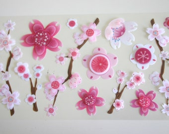 Sakura Blossoms - 3D stickers (1 sheet)