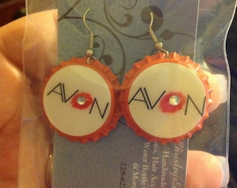Avon Bottle cap earrings
