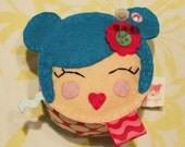 Felt Pincushion - Blushing Beauty