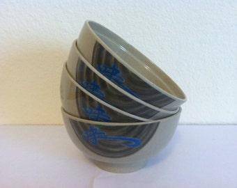 Collection of Tar Hong rice bowls, Set of 4, Melamine, Melmac, Thunder Group Inc