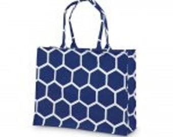 Royal Blue Honeycomb Tote