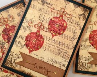 Vintage Christmas Card / Holiday Card set of 6