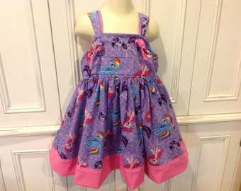 My Little Pony Boutique Purple and Pink Dress Size 2T 3T 4T 5 6