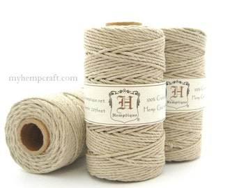 Hemp Twine, 2mm Thick Natural High Quality 48lb Hemp Cord