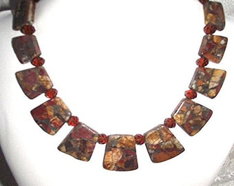 Picasso Jasper necklace