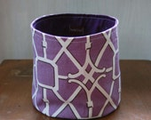 Graphic Purple Fabric Bin Basket Medium Organizer