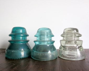 Antique Glass Insulator Set