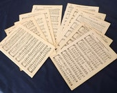 Vintage Paper Music Pages from old Hymn Book