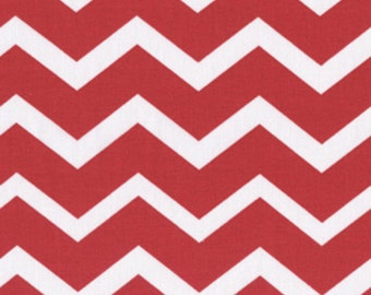 Chevron- Red and White - Cotton Quilting Fabric - BTY