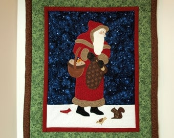 Applique Santa Wall Hanging