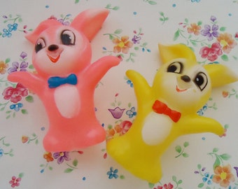 Rabbits Esu Fight Fingers. Japanese Puppet Cute Dolls