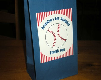 Baseball / Softball party Favor Treat bags - Set of 12