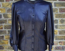 Womens gothic steampunk victorian style top shirt blouse Small to Plus sizes