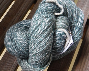 DK Weight Yarn - Mallard Silk Blend - Farmhouse Yarn -  4 oz skeins - 350 yards -  Green Blue Ecru Cream