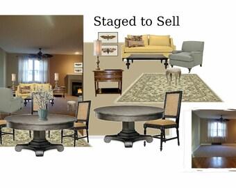 E Design Virtual Staging Design Packagevintage Decor Re Design Virtual Room Design E Design Interior Design Service