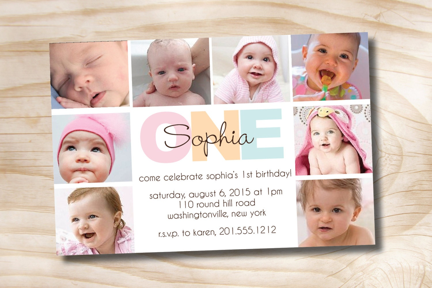 BOLD BIRTHDAY First Birthday Party Event Printable - Birthday invitation for one year baby
