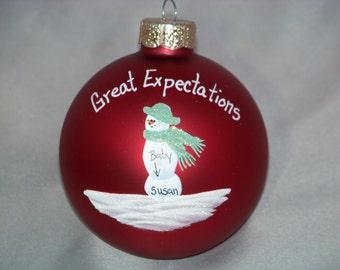 expectant single Mom ornament