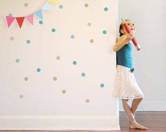 Confetti Wall Decal Dots Wall Decal Colorful Circles Decal Kids Wall Decal Kids Wall Stickers Dots On The Wall. Confetti Children Wall Decal