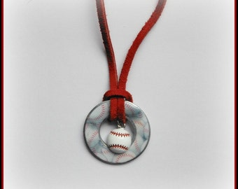 Baseball Washer Necklace
