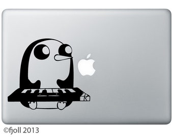 Gunter Playing Keyboard Decal Adventure Time