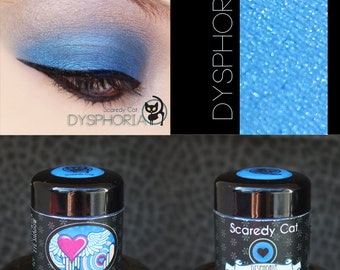 Glitter Eye Shadow - Intense Blue - Vegan - Loose Mineral Pigment Eyeshadow - Scaredy Cat - DYSPHORIA - 5 mL Sifter