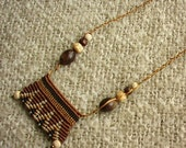 Cavendoli macrame necklace african boho macrame beaded necklace