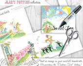 Mary Poppins Party Candy Buffet Signs by Cutie Putti Paperie