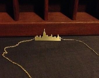 Gold Manhattan Skyline