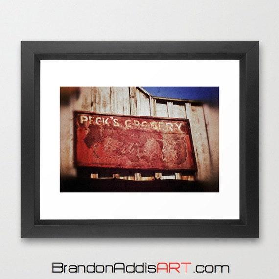 Coca Cola Kitchen Curtains: Kitchen Decor Vintage Grocer Sign Coca Cola By BrandonAddisArt