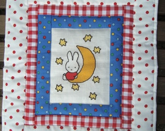 Baby wall hanging bunny on the moon