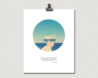 Sail Away Explore Dream Discover Mark Twain Quote Poster Print