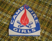 Pair of two vintage girlscouts girl scouts campfire girls cardboard cut outs from the 60's