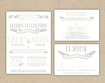 Wedding Invitation Sample - Instant Download  (1007)