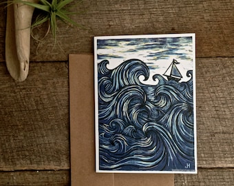 Eye of The Wind - single blank 5x7 greeting card