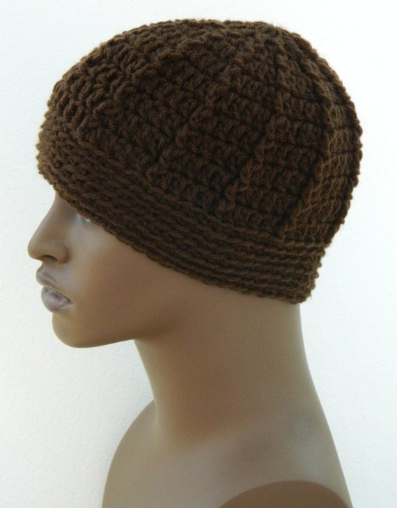 Men's Winter Beanie  Warm Winter Hats Teen Boys Beanie Hat In Cocoa Brown