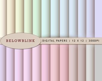 Pastel Digital Paper Pack, Scrapbook Papers, 24 jpg files 12 x 12 - Instant Download - DP204