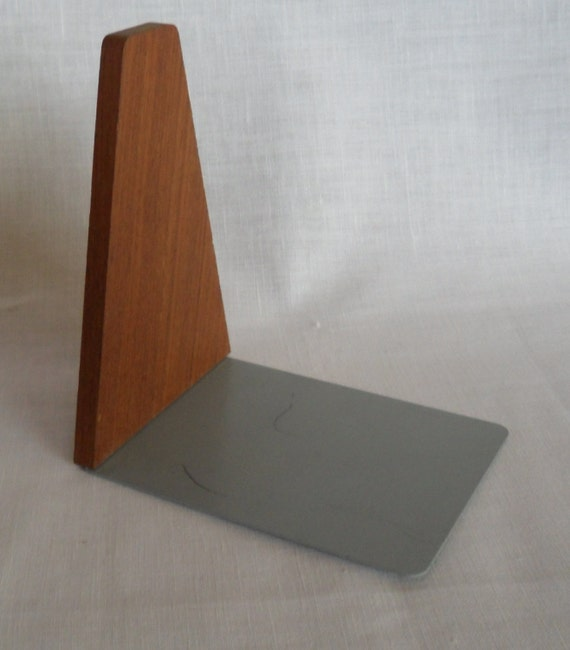 Vintage Danish teak book end - one - from the 60s