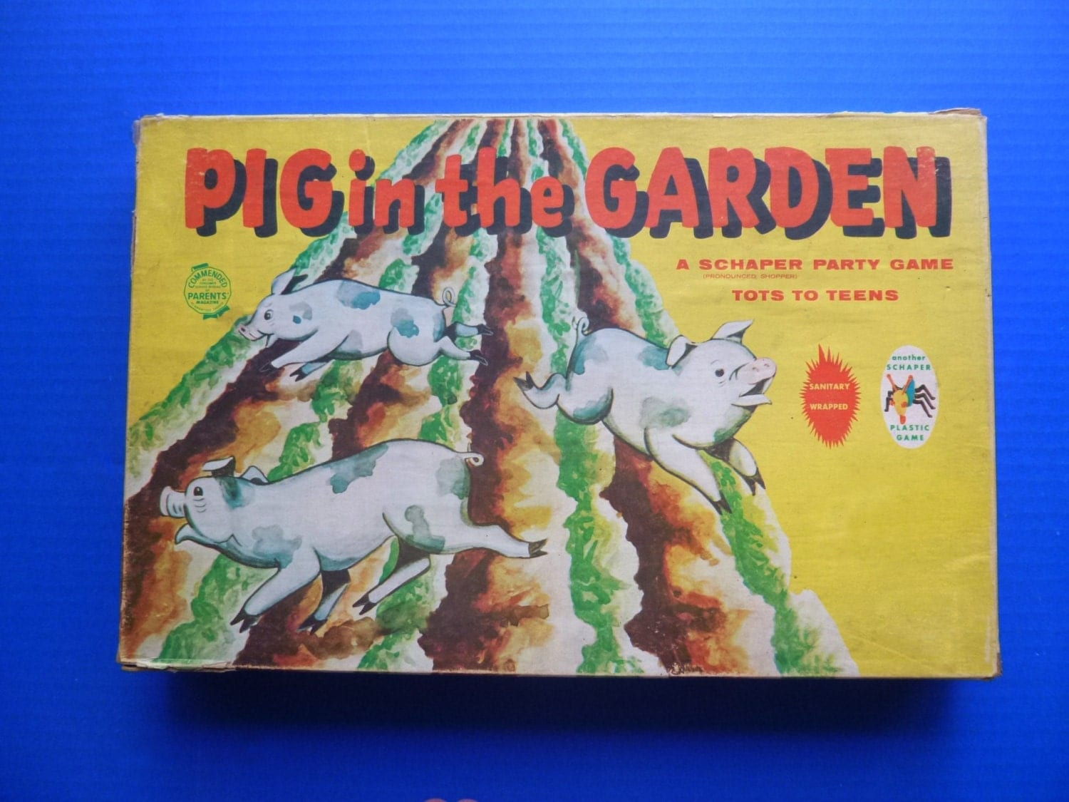 1950 S Pig In The Garden Board Game