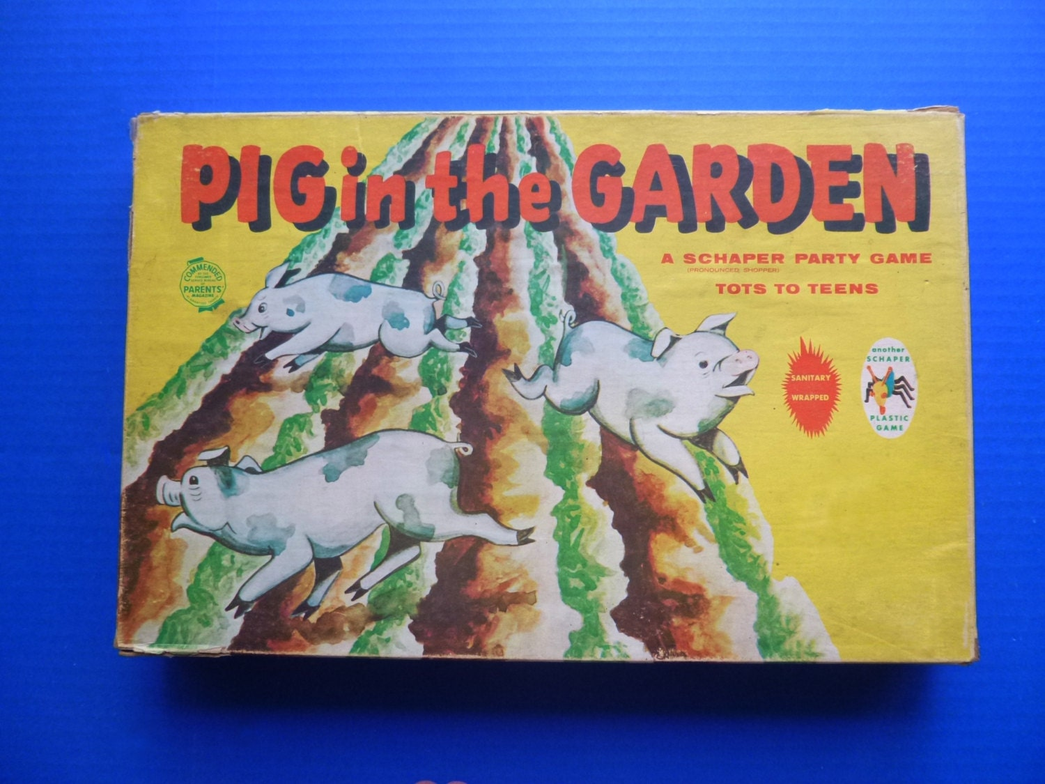 1950's Pig in the Garden board game