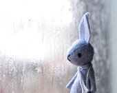 mini pocket bunny - blue miniature pastel felt rabbit by mountroyalmint - MountRoyalMint