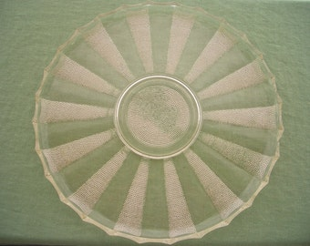 Vintage Pressed Glass Plate Tray Dish Serving Platter