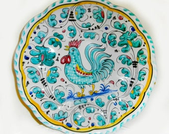 HAND PAINTED    Chicken  Decorative Plate