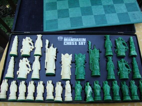 1960 S Vintage Collector S Mandarin Chess Set