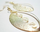 Breaking Waves / Nautical Earrings / Sparkling Gold Earrings