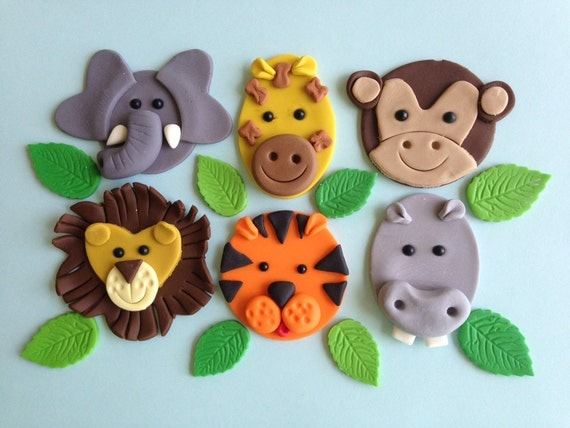 Permalink to Jungle Animal Cake Toppers