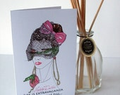 Instant downloadPrintable Easter Card, Fine Art fashion portrait with Fabergé Egg and Crocodile   A5 size