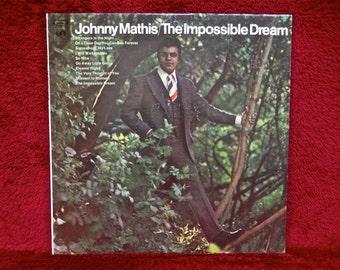 JOHNNY MATHIS -  The Impossible Dream - 1971 Vintage Vinyl Record Album