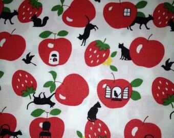 APPLE  and animal  printed One yard Japanese fabric