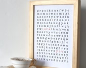 WORD PUZZLE Poster I love You